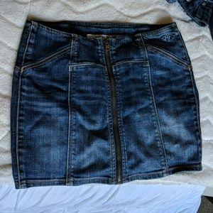 Super cute short jean skirt